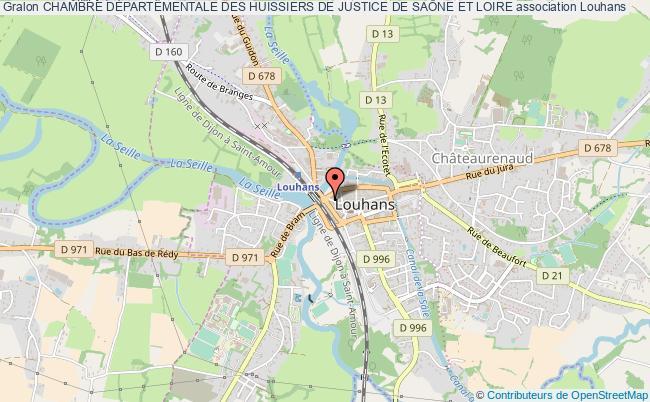 plan association Chambre DÉpartementale Des Huissiers De Justice De SaÔne Et Loire