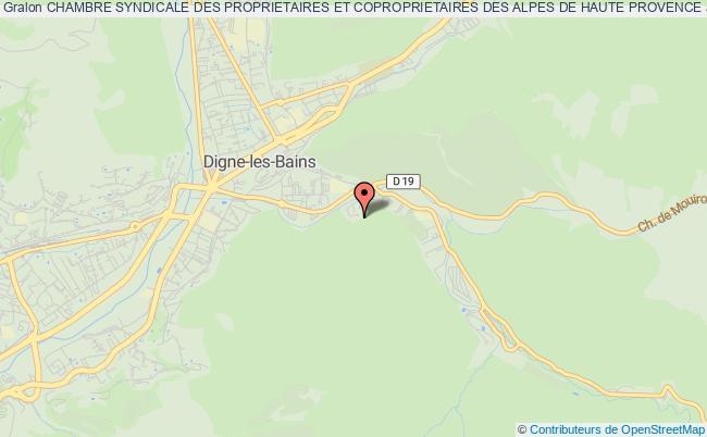 plan association Chambre Syndicale Des Proprietaires Et Coproprietaires Des Alpes De Haute Provence