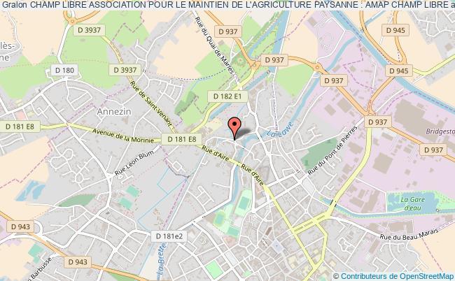 plan association Champ Libre Association Pour Le Maintien De L'agriculture Paysanne : Amap Champ Libre