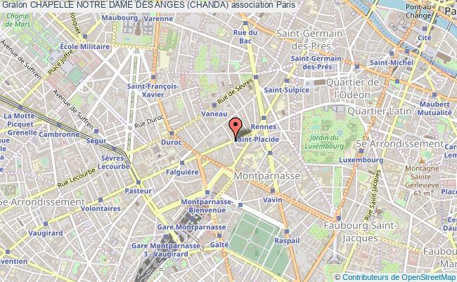 plan association Chapelle Notre Dame Des Anges (chanda) Paris