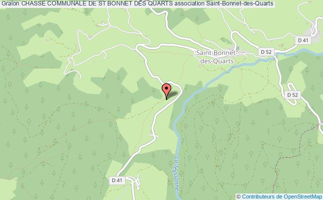 plan association Chasse Communale De St Bonnet Des Quarts Saint-Bonnet-des-Quarts