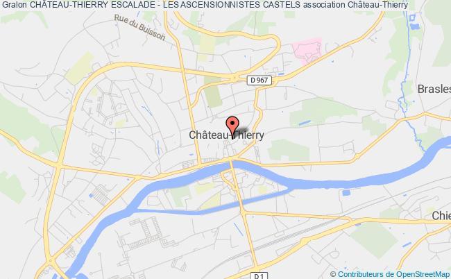 plan association ChÂteau-thierry Escalade - Les Ascensionnistes Castels