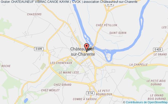 plan association Chateauneuf Vibrac Canoe Kayak ( Cvck ) Châteauneuf-sur-Charente