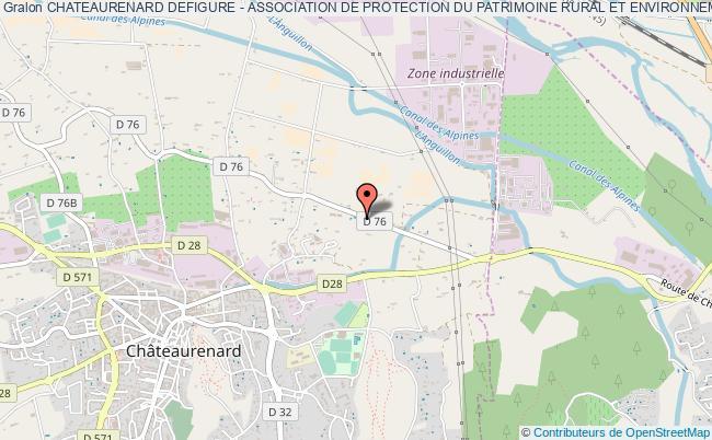 plan association Chateaurenard Defigure - Association De Protection Du Patrimoine Rural Et Environnemental