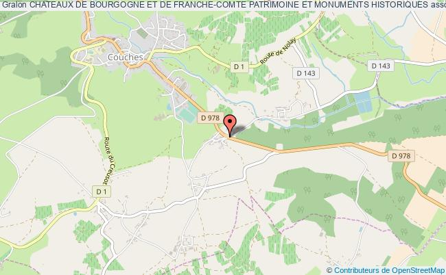 plan association Chateaux De Bourgogne Et De Franche-comte Patrimoine Et Monuments Historiques