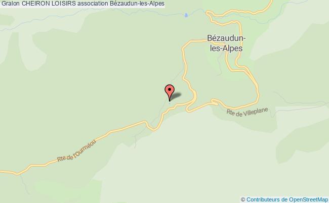 plan association Cheiron Loisirs Bézaudun-les-Alpes