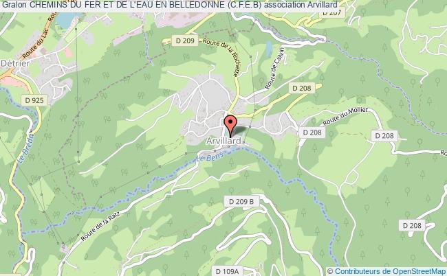 plan association Chemins Du Fer Et De L'eau En Belledonne (c.f.e.b) Arvillard