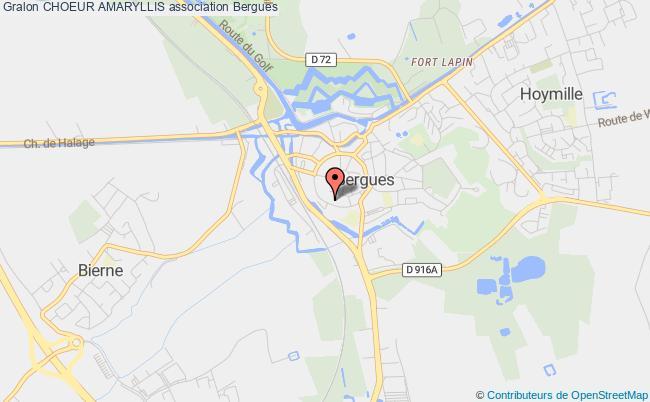 plan association Choeur Amaryllis Bergues