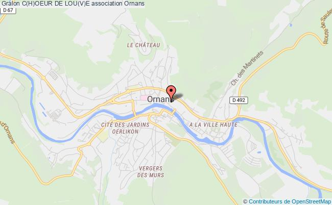 plan association C(h)oeur De Lou(v)e Ornans