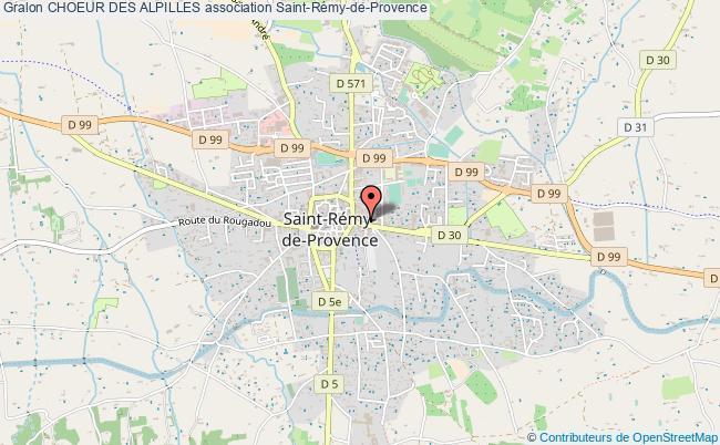 plan association Choeur Des Alpilles