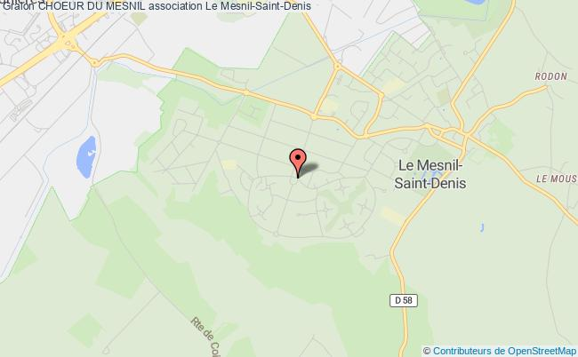 plan association Choeur Du Mesnil Le    Mesnil-Saint-Denis