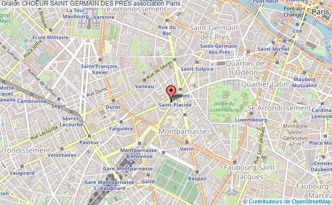 plan association Choeur Saint Germain Des Pres Paris
