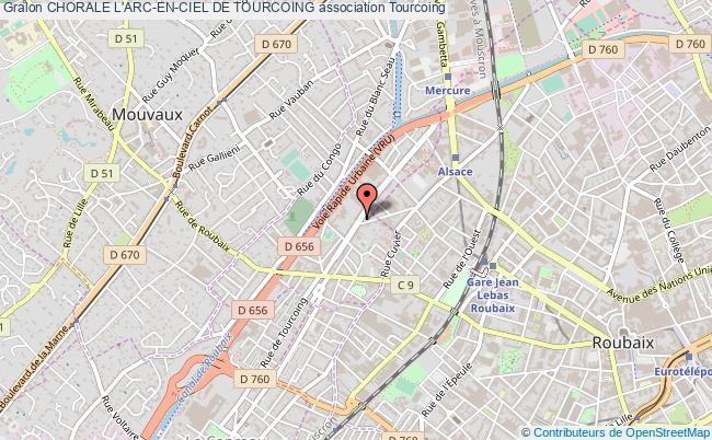 plan association Chorale L'arc-en-ciel De Tourcoing