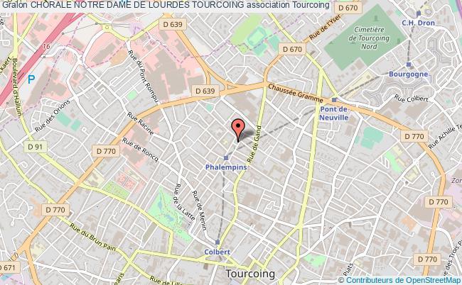 plan association Chorale Notre Dame De Lourdes Tourcoing