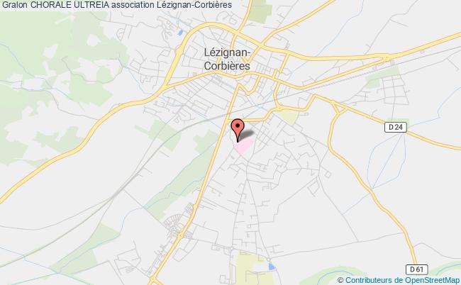 plan association Chorale Ultreia Lézignan-Corbières