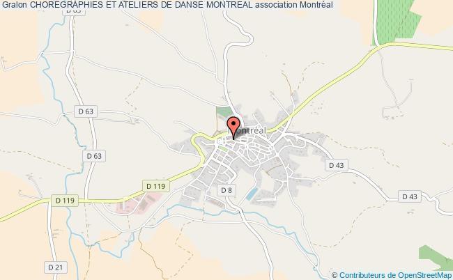 plan association Choregraphies Et Ateliers De Danse Montreal