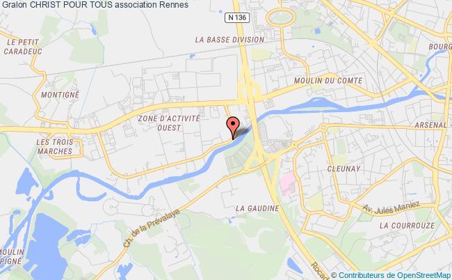plan association Christ Pour Tous Rennes