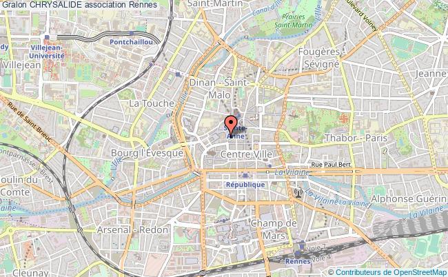 plan association Chrysalide Rennes