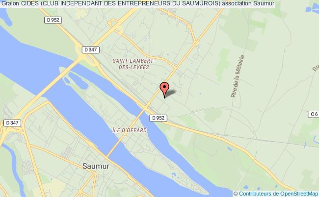 plan association Cides (club Independant Des Entrepreneurs Du Saumurois)