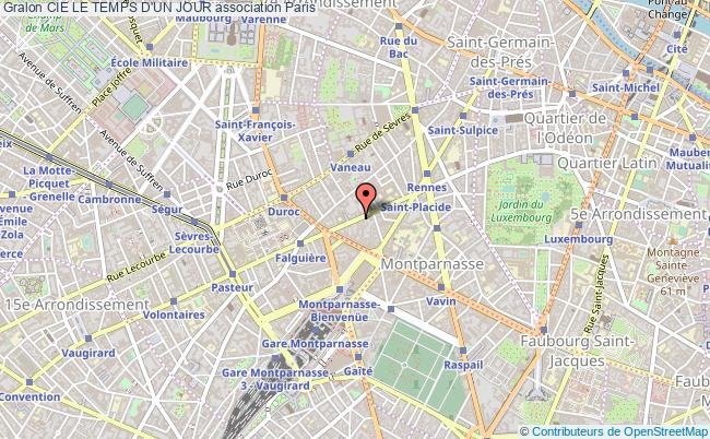 plan association Cie Le Temps D'un Jour Paris