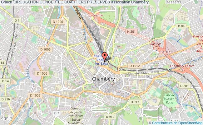 plan association Circulation Concertee Quartiers Preserves