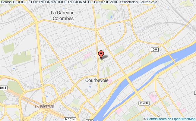plan association Ciroco Club Informatique Regional De Courbevoie Courbevoie