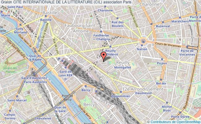 plan association CitÉ Internationale De La LittÉrature (cil) Paris
