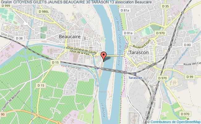 plan association Citoyens Gilets Jaunes Beaucaire 30 Tarason 13
