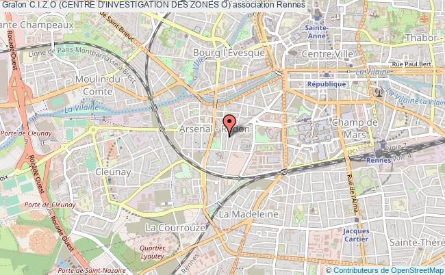 plan association C.i.z.o (centre D'investigation Des Zones O) Rennes