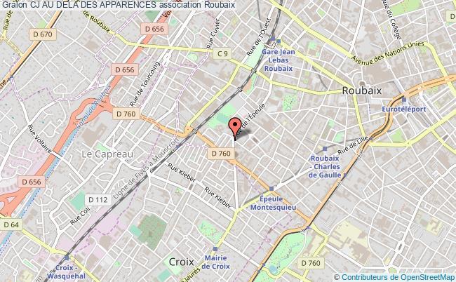 plan association Cj Au Dela Des Apparences Roubaix