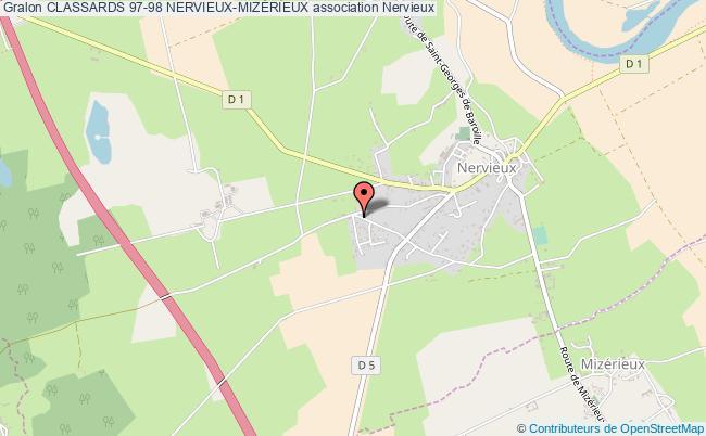 plan association Classards 97-98 Nervieux-mizÉrieux Nervieux