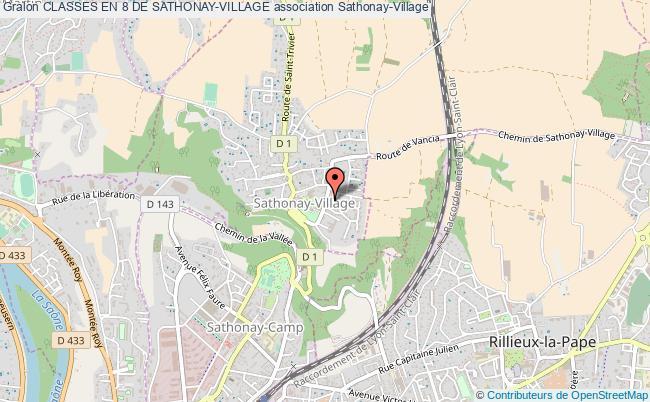 plan association Classes En 8 De Sathonay-village
