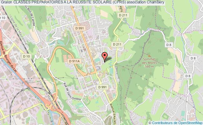 plan association Classes Preparatoires A La Reussite Scolaire (cprs)