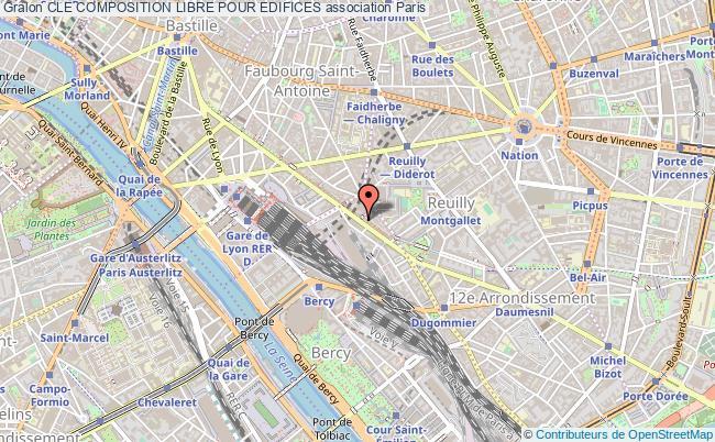 plan association Cle Composition Libre Pour Edifices Paris 12e