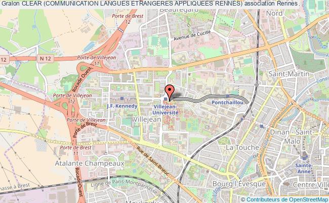 plan association Clear (communication Langues Etrangeres Appliquees Rennes)