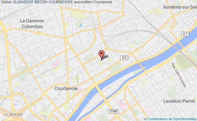 plan association Clinadent Becon Courbevoie Courbevoie