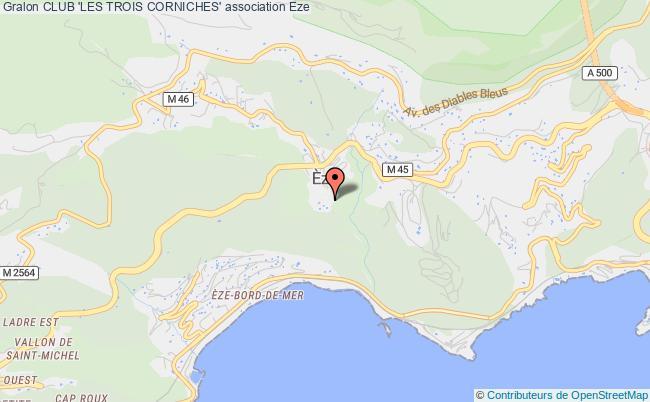 plan association Club 'les Trois Corniches'
