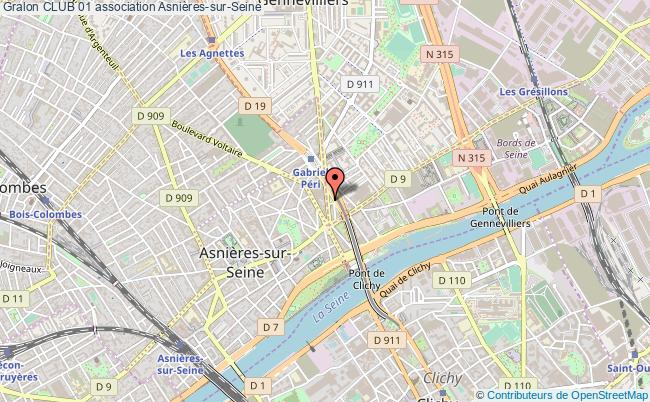 plan association Club 01 Asnières-sur-Seine