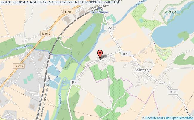 plan association Club 4 X 4 Action Poitou Charentes Saint-Cyr