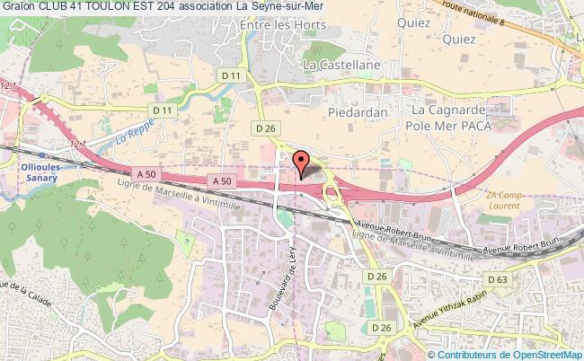 plan association Club 41 Toulon Est 204