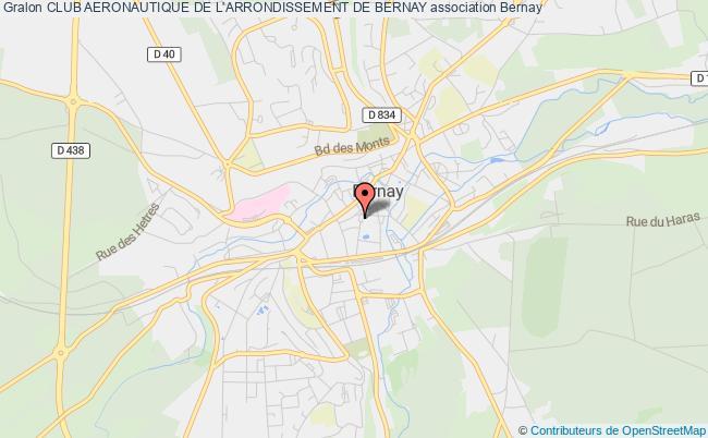 plan association Club Aeronautique De L'arrondissement De Bernay
