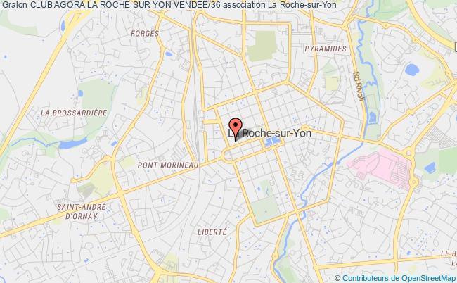 plan association Club Agora La Roche Sur Yon Vendee/36 La    Roche-sur-Yon