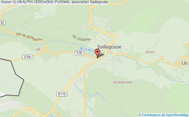 plan association Club Alpin Cerdagne-puigmal Saillagouse