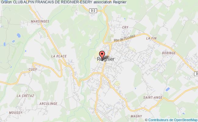 plan association Club Alpin Francais De Reignier-esery