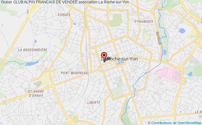 plan association Club Alpin Francais De Vendee La    Roche-sur-Yon