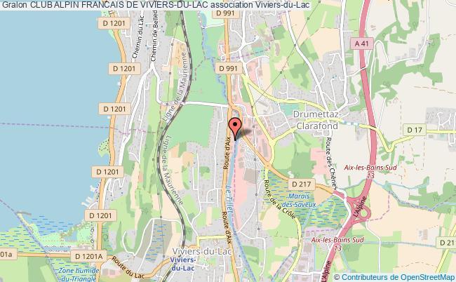 plan association Club Alpin Francais De Viviers-du-lac