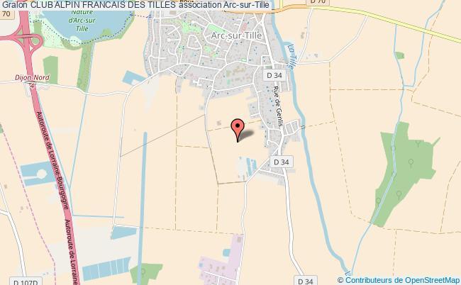 plan association Club Alpin Francais Des Tilles Arc-sur-Tille