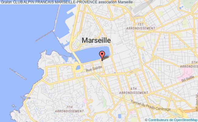 plan association Club Alpin Francais Marseille-provence