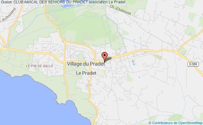 plan association Club Amical Des Seniors Du Pradet Le    Pradet