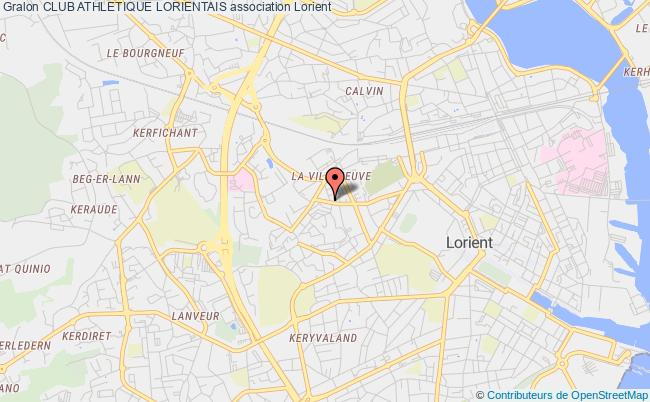 plan association Club Athletique Lorientais